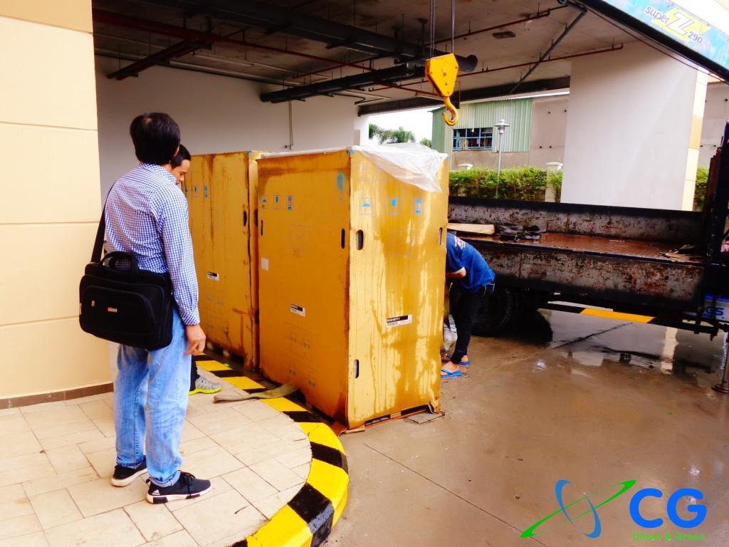 Hình ảnh quá trình nhập máy lạnh từ hãng đến công trường thi công